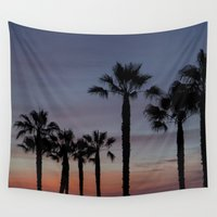 palms Wall Tapestries featuring Palms by Brian Morris Photography