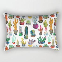 Funky Rainbow Cactus Pattern Rectangular Pillow