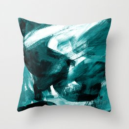Abstract Artwork Petrol #1 Throw Pillow