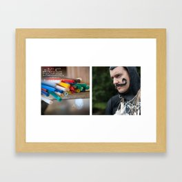 Return to the Land of Saturated Bundles™ Framed Art Print