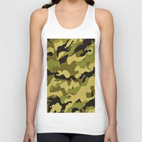 camouflage Tank Tops featuring CAMOUFLAGE by I Love Decor