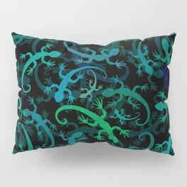 Leaping Lizard Blues Pillow Sham