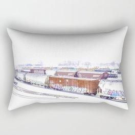 Cold Trains Rectangular Pillow