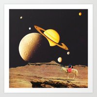western Art Prints featuring Western Space by Mariano Peccinetti
