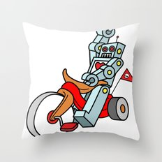 Hot Wheeling Robot Love Throw Pillow