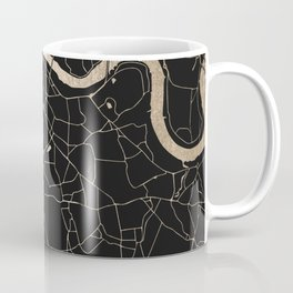 London Black on Gold Street Map II Coffee Mug