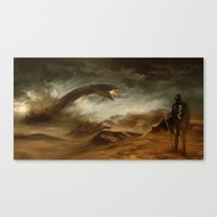 arrakis Canvas Prints featuring Sands of Arrakis by akreon