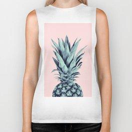Blush Pineapple Dream #1 #tropical #fruit #decor #art #society6 Biker Tank