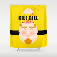 kill bill Shower Curtains featuring Kill Bill by Frikaditas T-Shirts
