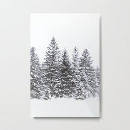BLACK WINTER TREES Metal Print