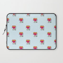 My heart goes faster for you pattern Laptop Sleeve