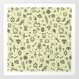 Doodles Pattern Art Print