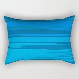 Blue Sea Abstract Cloud Stripes Rectangular Pillow