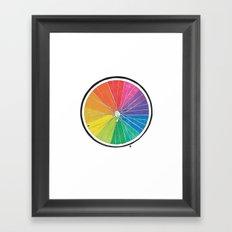 Color Wheel (Society6 Edition) Framed Art Print
