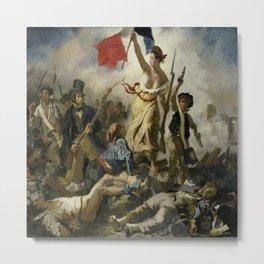 Eugene Delacroix's Liberty Leading the People Metal Print