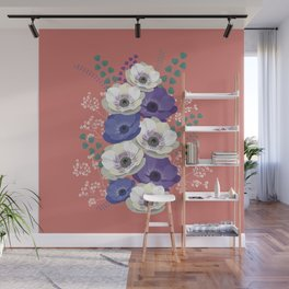 Anemones collection: bouquet II Wall Mural
