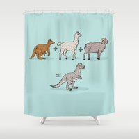 math Shower Curtains featuring Tauntaun Math by Otter Illustration