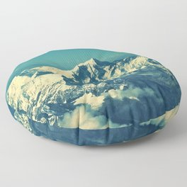 Mount Everest and surrounding mountain range Floor Pillow