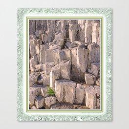 LITTLE LONE TREE IN COLUMNAR BASALT FORMATION Canvas Print
