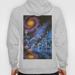 Alien city and galaxies Hoody