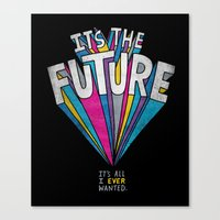 future Canvas Prints featuring The Future by Chris Piascik