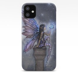 Little Blue Moon Fairy Art by Molly Harrison iPhone Case