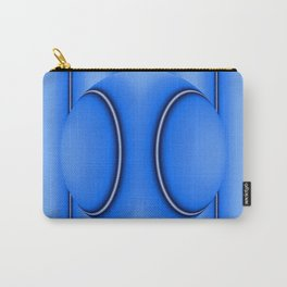 Blue Ball on Stripes Carry-All Pouch