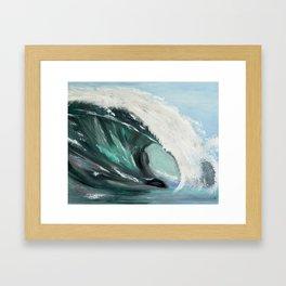 Ocean wave1 Framed Art Print