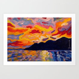 West Coast Sunset Art Print