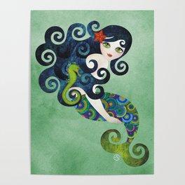 Aquamarine Mermaid Poster