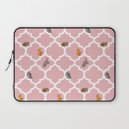 Cats on a Lattice - Pink Laptop Sleeve