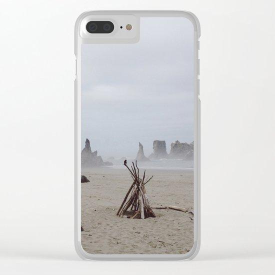 Bandon Beach Bird Clear iPhone Case