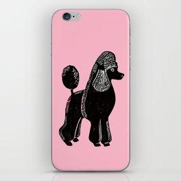 Black Standard Poodle iPhone Skin