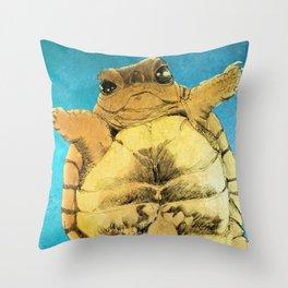 TURTLE HUG Throw Pillow