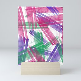 Fantastic Watercolor Strokes #watercolor #brushstroke Mini Art Print