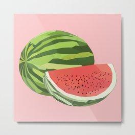 Geo Watermelon Metal Print