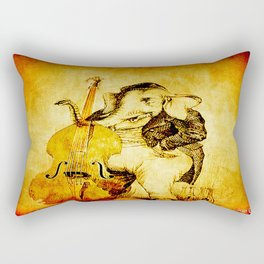The elephant in the double bass Rectangular Pillow