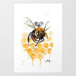 Clockwork Bee III Art Print