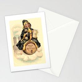 Munchen Kinder(child) straddling a beer barrel labeled Gruss aus Munchen Stationery Cards