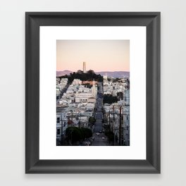 Coit Tower at Twilight Framed Art Print