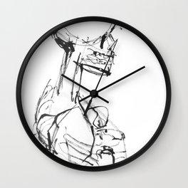 INK SKELETON Wall Clock