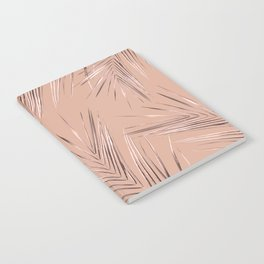 Rose Gold Pink Palm Leaves on Blush II Notebook