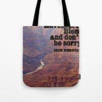 kerouac Tote Bags featuring Kerouac by muffa