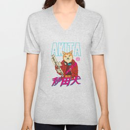 Akita Retrowave Unisex V-Neck