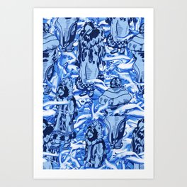 Eskimo Curlew Blue Art Print
