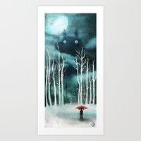 snow Art Prints featuring Snow by youcoucou