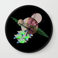 2001 Wall Clocks featuring 2001 a space odyssey by lina