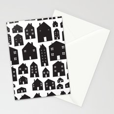 Scandi Houses Stationery Cards