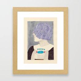 Wet Hair Framed Art Print