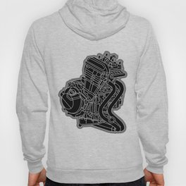 riding with one cylinder engine motorcycle Hoody